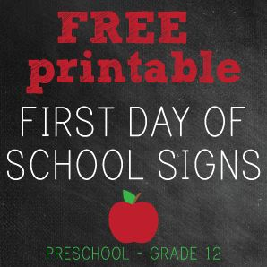 exclusive free printables teacher crafts pinterest school signs school and first day of school