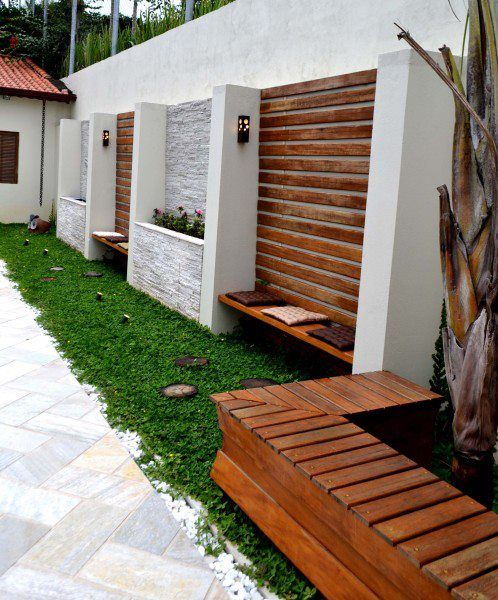 ideias para disfarçar grandes muros no jardim