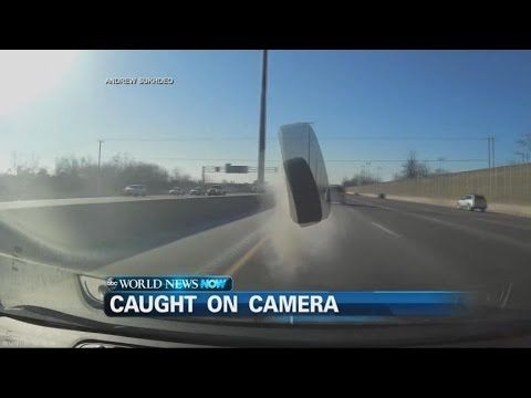 VIDEO: Car Tire Smashes Through Windshield Check more at https://allworldnews.top/video-car-t…