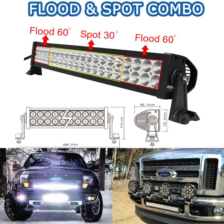 120W 22 inch LED Work Light Bar Off Road Truck Boat Jeep Ford SUV 4X4 GMC 20/24…