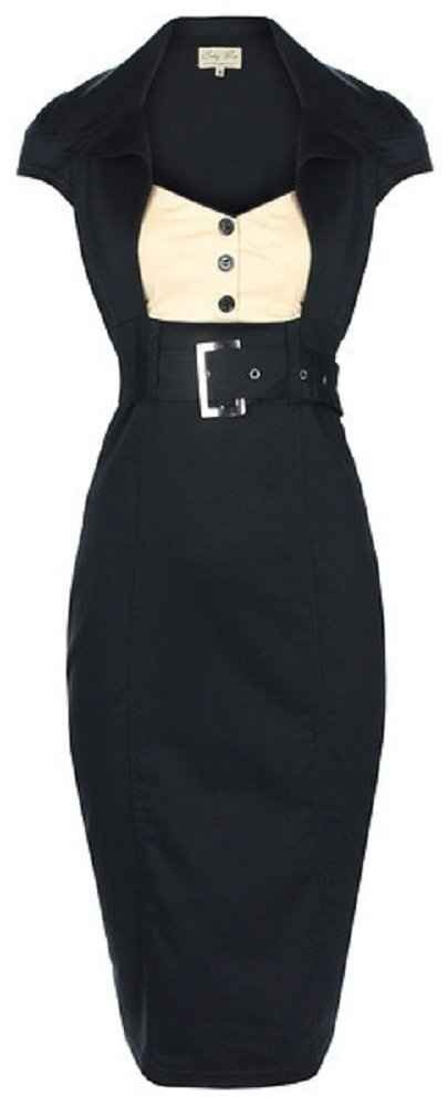 cute lindy bop 'Wynona' chic vintage 50's secretary style black pencil wiggle dress WANT IT!!!!