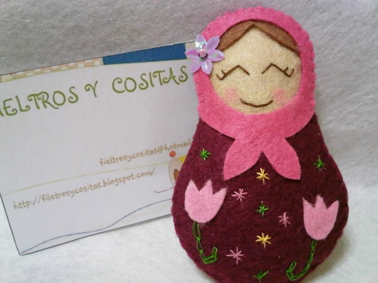 matrioskas: Felt Dolls, Russian Dolls, Felt, Eye Matrioska