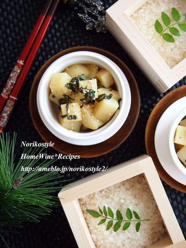 じゃがいものナムル by 紀子 / コロコロと一口大に切ったじゃがいもを茹でてごま油で和えてナムルに。しそとゴマの香りがポイント。食感を残して食べ応えもあり。お酒にもお弁当にも。 / Nadia