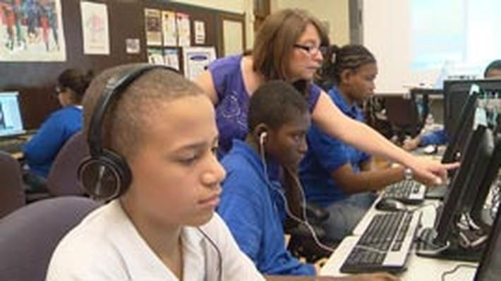 These online self-paced lessons for blended learning, funded by the Walmart Foundation, are designed to enhance the literacy skills of struggling readers in grades 5–8. Each uses videos, interactive activities, note taking, reading, and writing to present students with an engaging science, social studies, mathematics, or English language arts topic. Each lesson addresses a range of literacy strategies, which are listed in the accompanying teacher's guide. Students need to be signed in to...