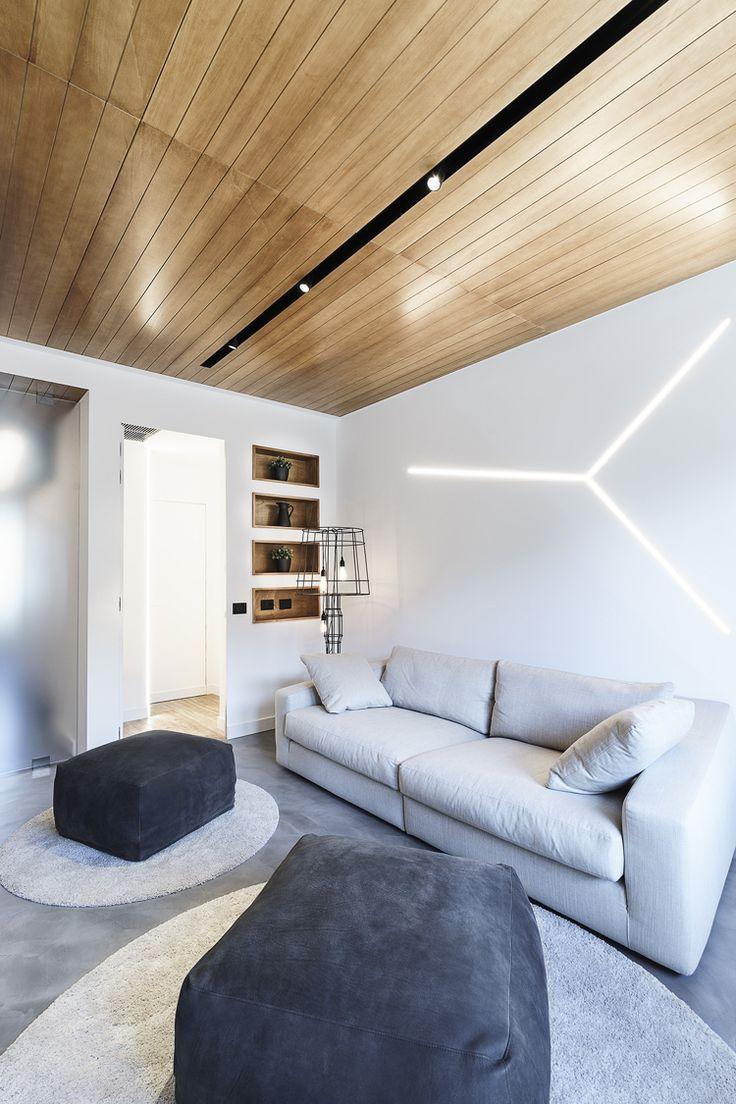 Lichtleisten Indirekte Beleuchtung Wohnzimmer Weiss Holzdecke Grau Couch Beleuch Beleuchtung Wohnzimmer Indirekte Beleuchtung Wohnzimmer Indirekte Beleuchtung