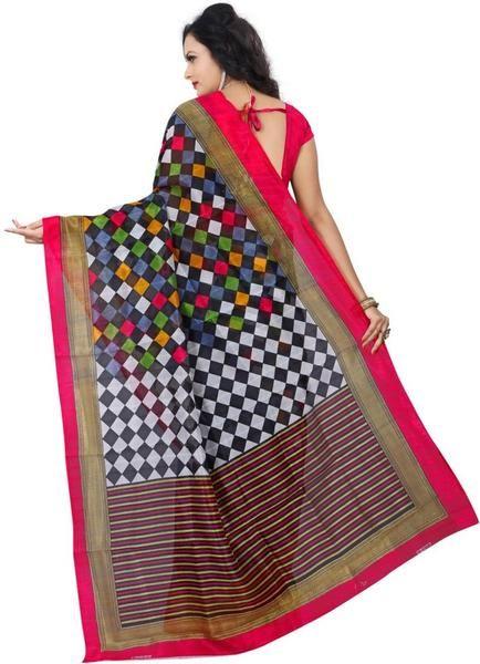 LadyIndia.com # Casual Saris, Trendy Printed Beautiful Multicolor Saree Fro Women-Sari, Printed Sarees, Casual Saris, Silk Saree, https://ladyindia.com/collections/ethnic-wear/products/trendy-printed-beautiful-multicolor-saree-fro-women-sari