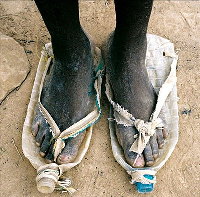 Bottle Shoes~ Whenever I feel frustrated with obstacles in life, I look at this photo & count my blessings~♛