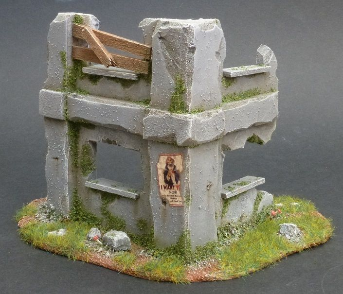Wargame terrain scenery building ruins d cor ruines for Decor 40k