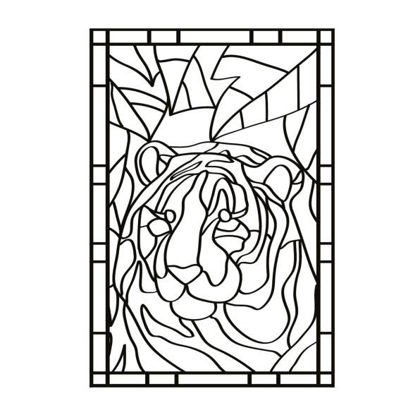 Large Stained Glass Coloring Pages