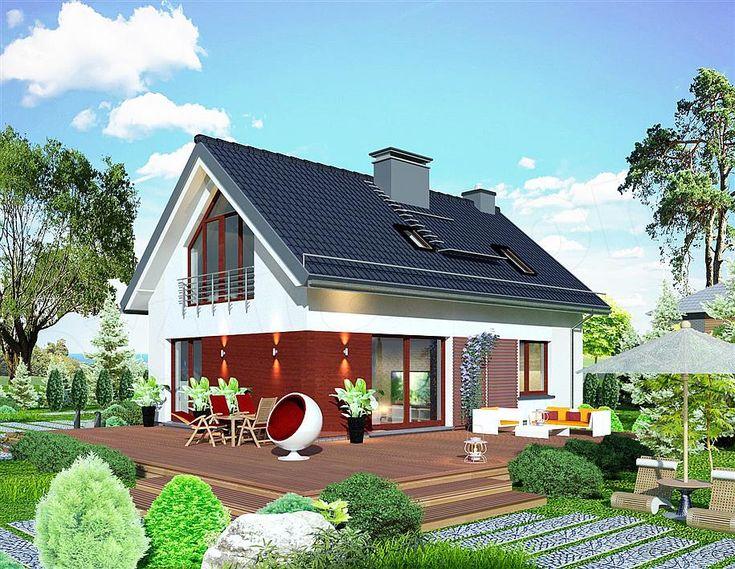 Proiect cu fotografii casa de vis mica cu mansarda de 114 m2