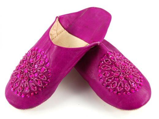 Fioletowe marokańskie babusze Purple Moroccan slippers http://www.etnobazar.pl/search/ca:babusze?limit=128