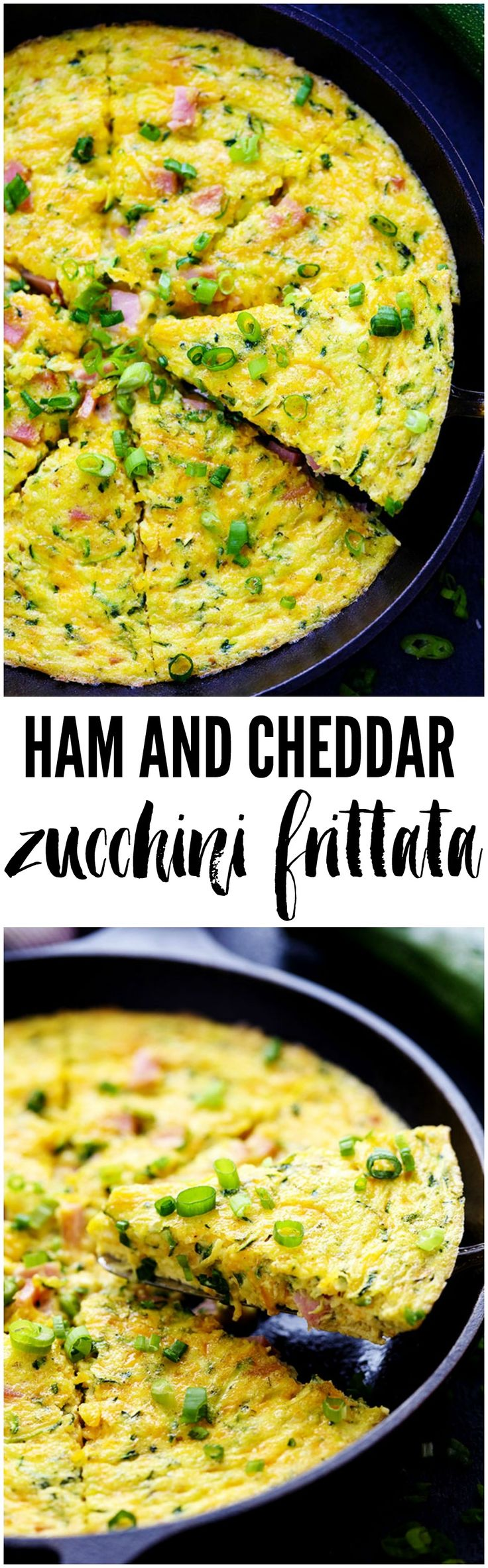 Ham and Cheddar Zucchini Frittata is filled with two cups of zucchini, ham, and cheddar cheese. It has such amazing flavor and will be devoured in no time at all!