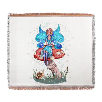 Woven Blanket www.teeliesfairygarden.com  Woven blanket can be used as a soft and warm blanket or as a wall tapestry. #fairyblanket