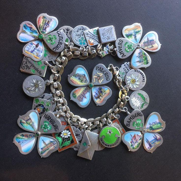 eCharmony Charm Bracelet Collection - Enamel Souvenir Shamrock Sliders