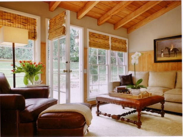 I love the simplicity of the window treatments.