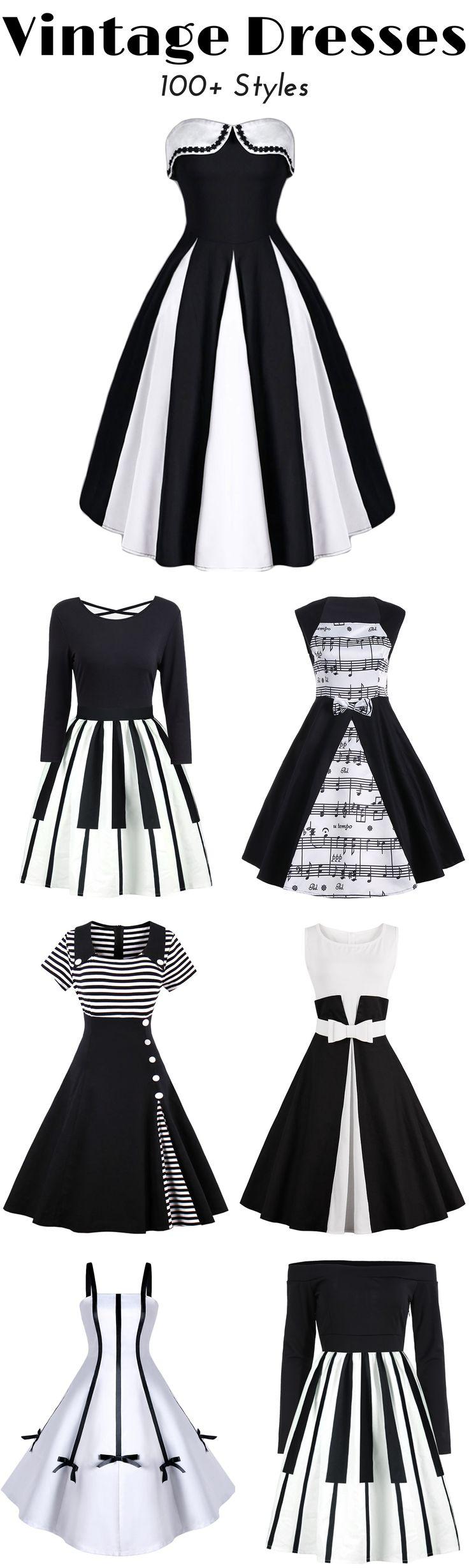 100+ Vintage Dresses for Women | Low to $12 | Sammydress.com | #vintage #dress #womenfashion