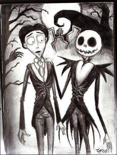 My two favorite Tim Burton cartoons <3 Nightmare before Christmas & Corpse Bride :)