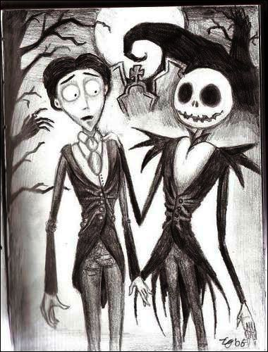 Corpse Bride meets Nightmare Before Christmas