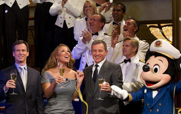 Mariah Carey christens the new Disney Fantasy cruise ship