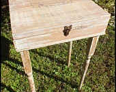 Upcycled Distressed Wine Box Table. $175.00, via Etsy.