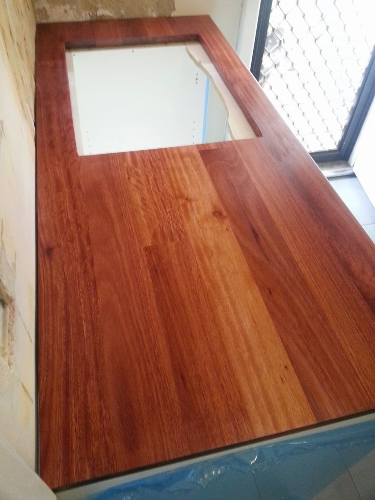 Jarrah Jungle: Laundry Renovation -  How To Turn A Wood Panel Into A Bench Top