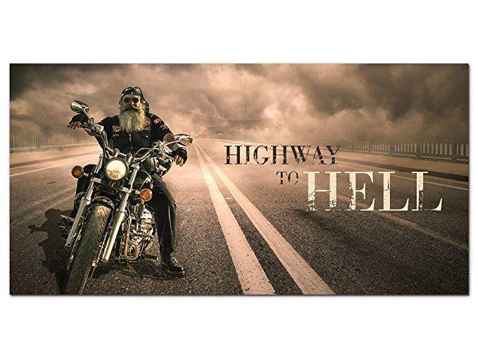 Graz design wandbild mit spruch highway to hell glasbild for Kunstdruck wohnzimmer