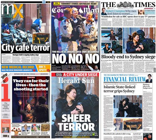How the press covered the Sydney Lindt cafe siege, during which hostages were…