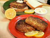 Salmon Patties Recipe -- use almond flour and Ezekiel bread 3/4 slice bread crumbs, rather than flour, corn meal, or bread crumbs. Loved it.