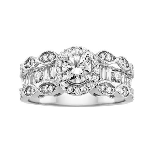 Simple Diamond Engagement Ring in White Gold Luau WeddingFred MeyerRound