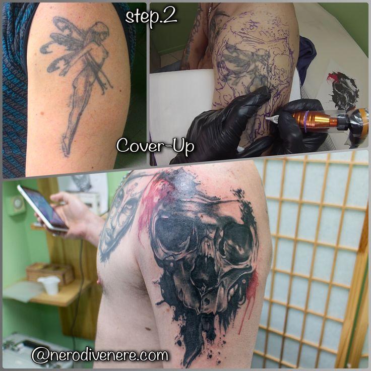 #tattoo #tatuaggio #cheyennehawk #ipower #tattooartist #tattoogirl  #suicidegirl #inkedgirl #watercolor #ink #artist #blackandwhite #picoftheday #instagirl  #inkideas #inked #tattooart #drawing #selfie #sketch #instatattoo #inkedup #tattooer #cover #coverup #skull #teschio #copertura #fairy #fata #fatina
