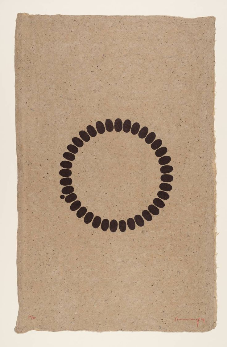 Richard Long, Untitled, Lithograph on paper, 1994. Untitled is a suite of three lithographic prints signed and numbered by the artist in an edition of forty. The lithographs were printed on Nepalese hemp paper by James Miller and Maurice Sánchez at Derrière L'Etoile Studios in New York. They were published by Brooke Alexander Editions, New York.