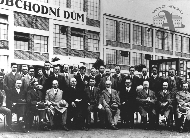 French industrialist visiting Zlín, 1929