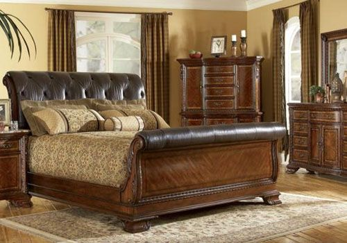 Leather Sleigh Bed King Size Google Search Leather