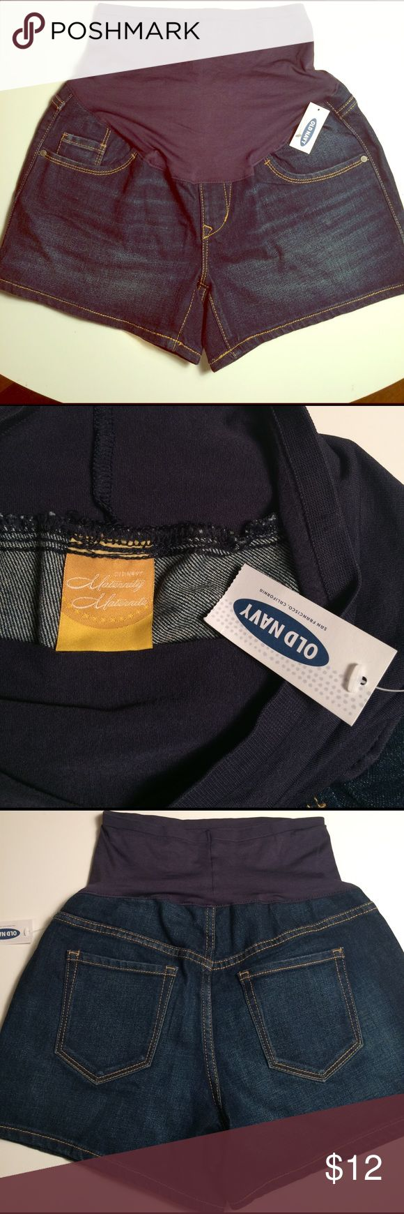 "Old Navy maternity shorts size 4 NWT New with tags Old Navy size 4 maternity shorts. Inseam 4"". Old Navy Shorts Jean Shorts"