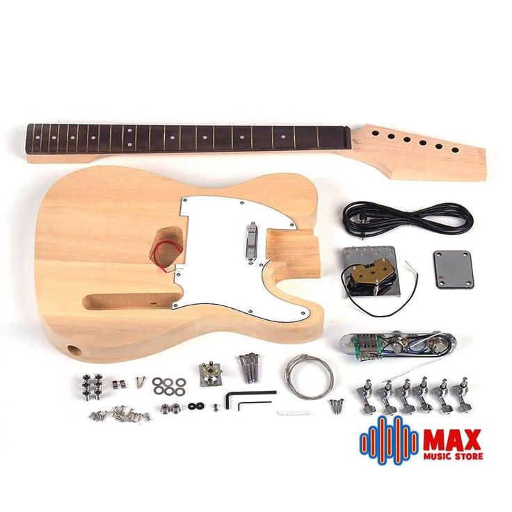 Tele Style Electric Guitar Kit Basswood Body Maple Neck Rosewood Fingerboard #Unbranded