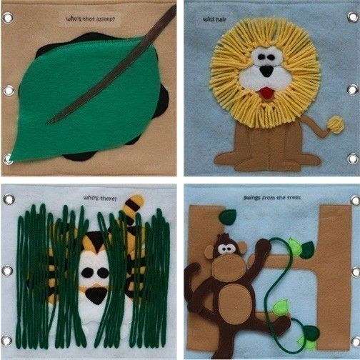 To the Zoo - ePattern for a Toddler's Quiet Book. $8.00, via Etsy.