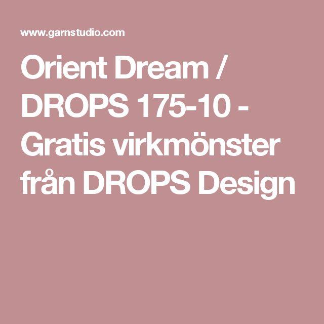 Orient Dream / DROPS 175-10 - Gratis virkmönster från DROPS Design