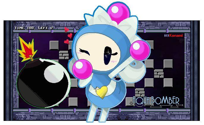 Super Bomberman R - Aqua Bomber by FierceTheBandit