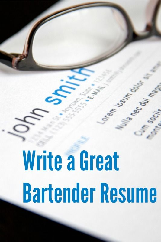 https://www.abarabove.com/bartender-resume/ Applying for a bar job? You'll need a great resume. Here's how to write one.