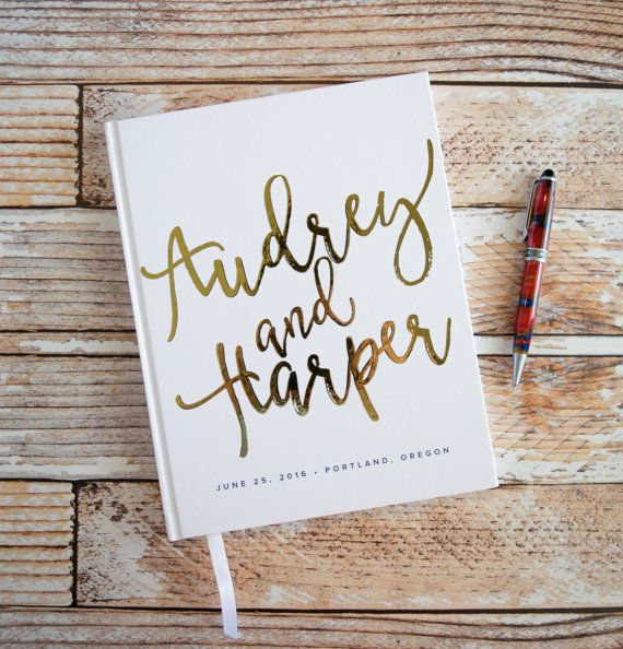 Hey, I found this really awesome Etsy listing at https://www.etsy.com/uk/listing/478194887/real-gold-foil-wedding-guest-book-with