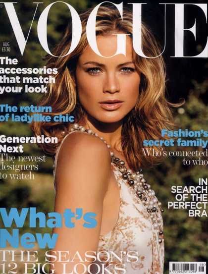 キャロリン・マーフィー(Carolyn Murphy)| ファッション雑誌の王様「VOGUE」の表紙も飾っています。 とにかく息の長~~~い超人モデルさんですね。
