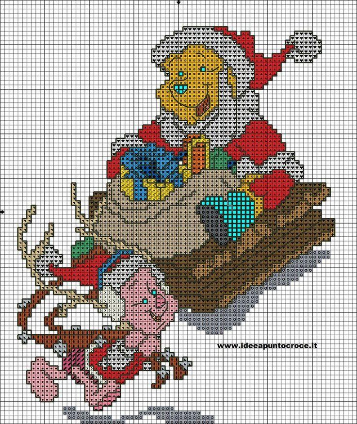 winnie the pooh cross stitch by syra1974 on DeviantArt