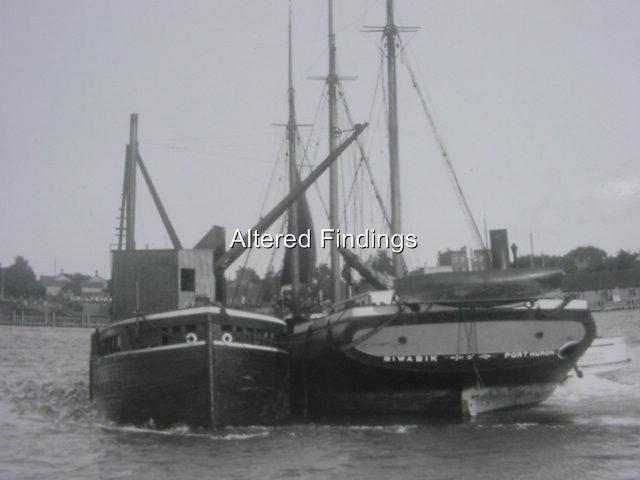 Schooner Biwibik Port Huron Great Lakes SHIP 4x6 Vtg Photo 1906 12 | eBay