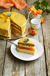 Фото к рецепту: Торт Король Солнце