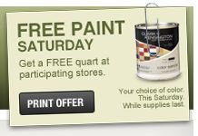 ACE Hardware will be offering up a Free quart of paint TODAY Saturday (March 16, 2013)! You will want to make sure to print your coupon for Free Paint and take it into your local ACE Hardware Store! This would be fun to have for little projects or crafts around ...