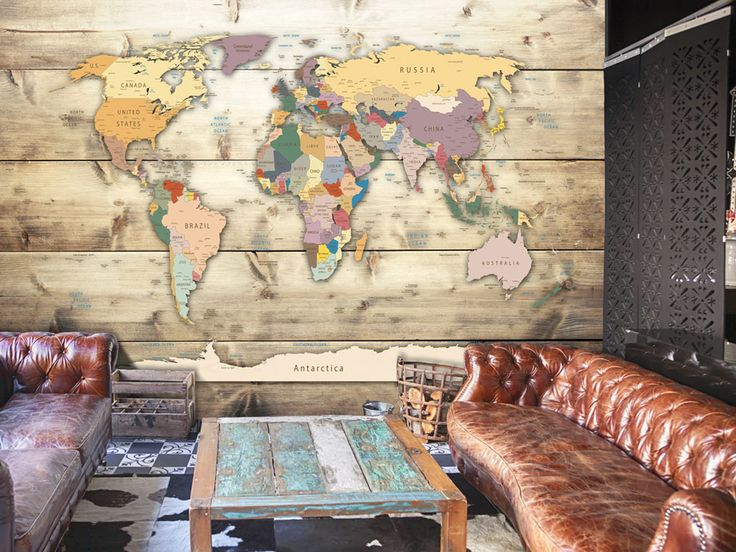 Map Wallpaper #wall #map #world #travel #decor #art