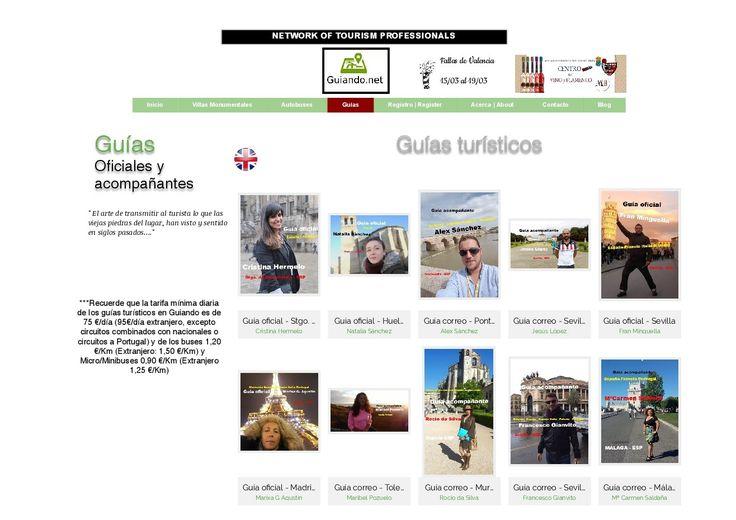 Guiando.net · Nuevos guías turísticos registrados en Marzo Jesús López (G.Correo- Sevilla), Alex Sánchez (G.Correo - Pontevedra), Cristina Sánchez (G.Oficial - Huelva) y Cristina Hermelo (G.Correo- Stgo. de Compostela)