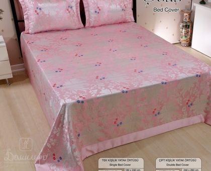 Купить покрывало жаккардовое NAZSU CINAR розовое 240х260 от производителя Nazsu…