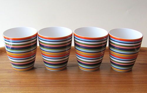 Set-of-4-Iittala-Finland-Origo-Orange-Mug-Alfredo-Haberli