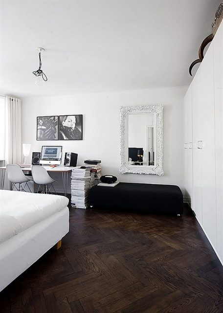 Perfect apartment in Stockholm, Sweden. Love the flooring!